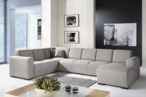 hoekbank stof lounge