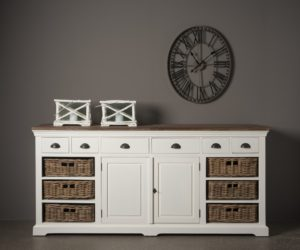 dressoir hout wit mand