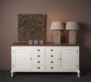 dressoir wit teak hout
