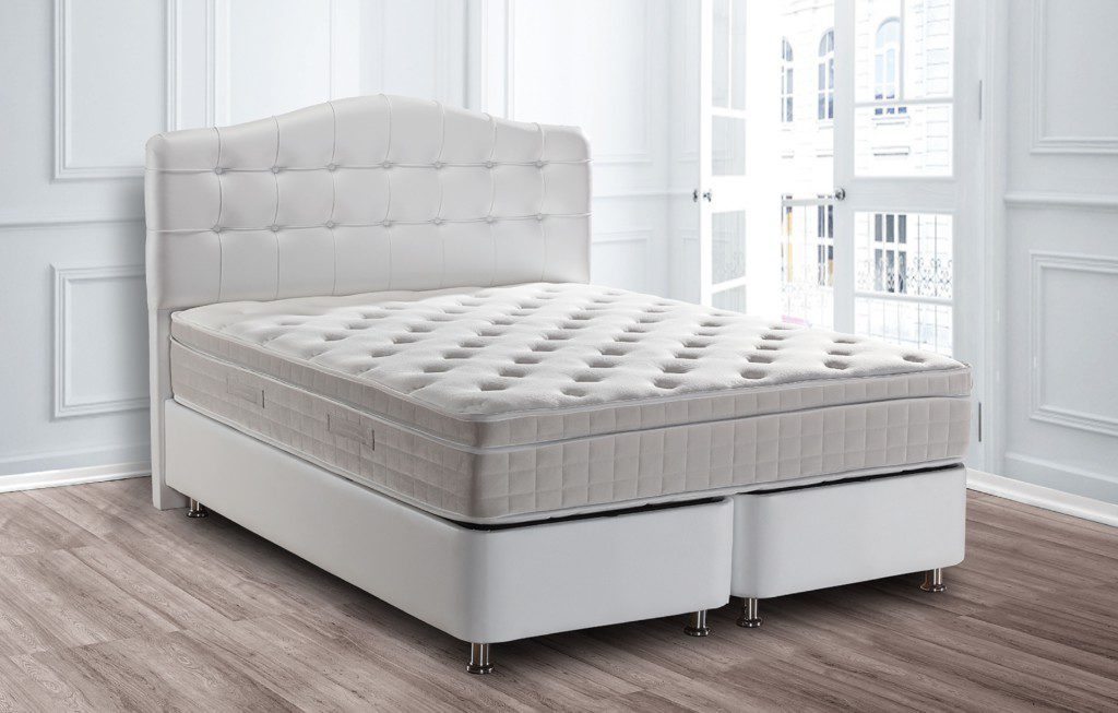 boxspring opbergbed wit